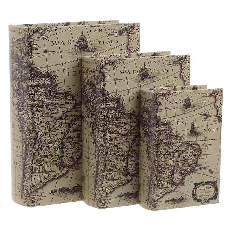Κουτί/Βιβλίο Σετ Των 3τμχ 3-70-106-0012