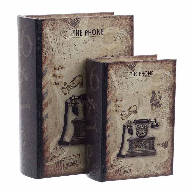 Κουτί/Βιβλίο Σετ Των 2τμχ 3-70-106-0015