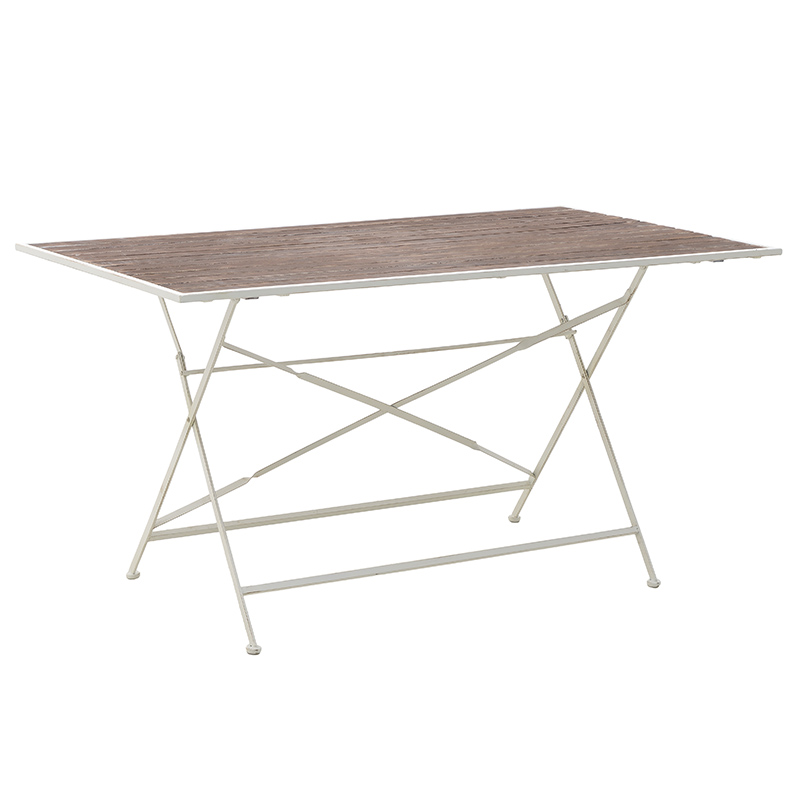Μεταλλικό/Ξύλινο Τραπέζι 143.5x84x75.5 3-50-052-0011